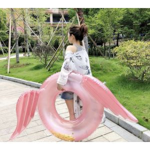 Pink Gold Glitter Sequin Tube Inflatable Pool Float