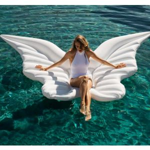 White Giant Butterfly Angel Wings Inflatable Pool Float