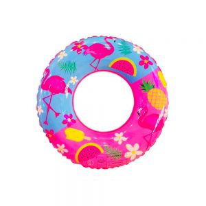 Pink Kids Tube Inflatable Pool Float Ring