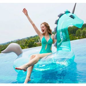 Unicorn Pool Float with Sparkles Inside