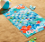 Checkers Blue Beach Towel and Backpack