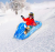 Blue Snowflake Inflatable Snow Sled