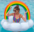 Rainbow Cloud Sequined Pool Float for Adults and Kids Tube Ring